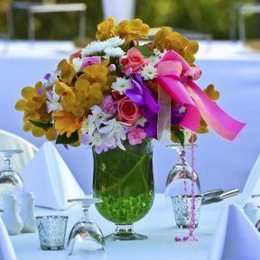 Bouquet centre de table mariage