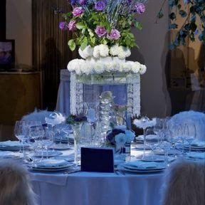 Centre de table mariage en verre