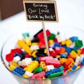 Centre de table mariage thème lego