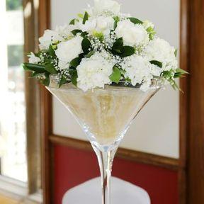 Centre de table mariage vase