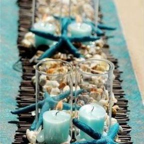 Centre de table pour mariage au thème de la mer