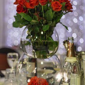 Centre de table vase mariage