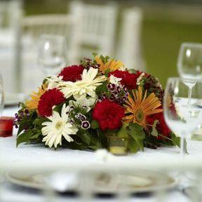 Composition florale mariage centre de table