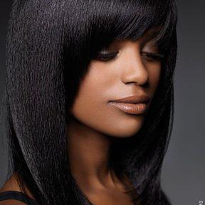 Coiffure lisse cheveux crépus @ Niwel