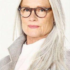 Cheveux gris éffilés
