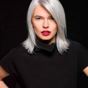 Cheveux gris femme jeune automne-hiver 2016 @ Faretra Paris