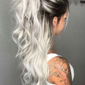 Cheveux gris tendance