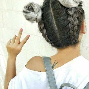 Coiffure cheveux gris