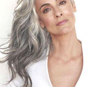 Coupe cheveux gris
