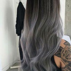 Ombré hair gris
