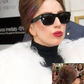 Le chignon excentrique de Lady Gaga