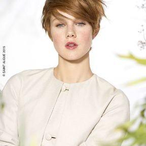 Coupe de cheveux femme avec frange printemps-été 2015 @ Saint Algue