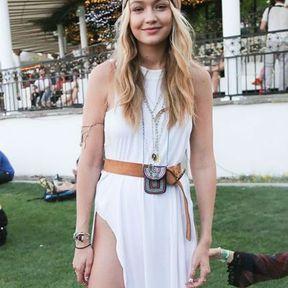 Le foulard hippie chic de Gigi Hadid