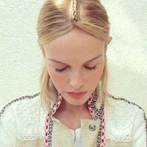 la raie tressée bohème de Kate Bosworth