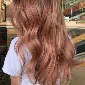 Balayage rose gold cheveux longs