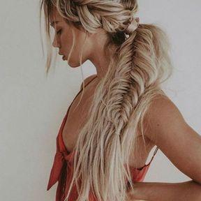 Coiffure bohème sur cheveux longs
