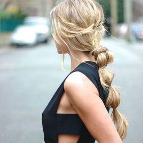 Coiffure originale cheveux longs