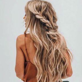 Coiffure pour cheveux longs