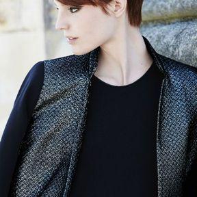 Modèle de coiffure automne-hiver 2015 @ Jean Louis David