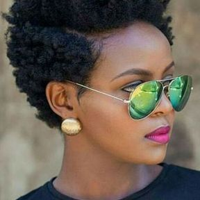 Coupe courte afro
