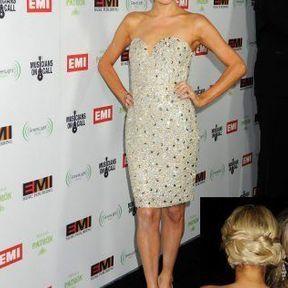 Le chignon glamour de Paris Hilton