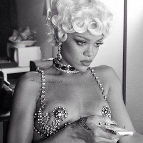 La coupe rétro de Rihanna
