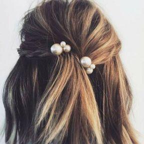 Les perles dans les cheveux