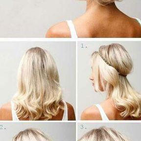 La coiffure avec un headband