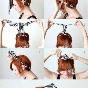 La coiffure foulard en tresse