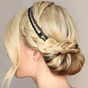 Chignon tréssé avec un headband