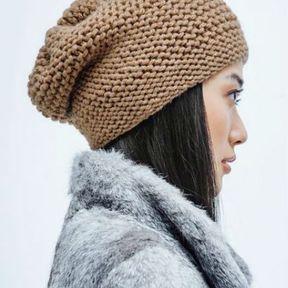 Coiffure hiver 2018 avec un joli bonnet
