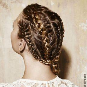 Coiffure cheveux tresses mariage été 2015 @ Jean Louis David