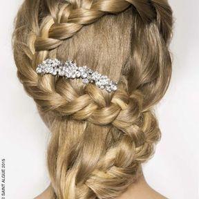 Modèle coiffure mariage printemps-été 2015 @ Saint Algue