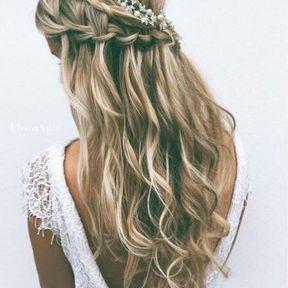 Une jolie coiffure pour les cheveux longs