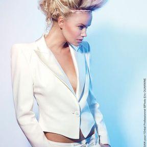 Blond platine cendré Christine Margossian L'Oréal Professionnel 2014