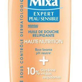 Une douche hydratante avec Mixa