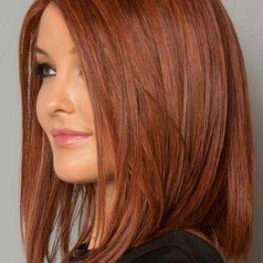 Carré long sur cheveux roux