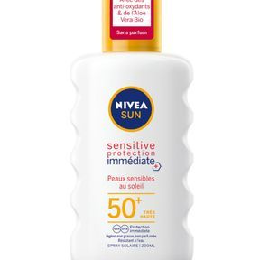Sensitive Protection Immédiate spray solaire SPF 50 de Nivea