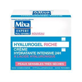 Crème hydratante intensive Hyalurogel riche de Mixa