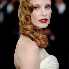 Jessica Chastain, la palme de la coiffure rétro hollywoodienne (2012)