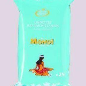 Des lingettes rafraîchissantes au Monoï de Tahiti   Corine de Farme