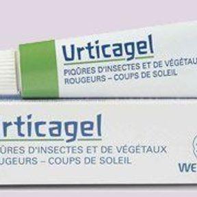 Un tube d'Urticagel des Laboratoires Weleda