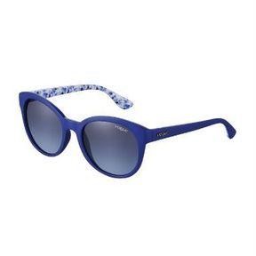 Lunettes de soleil bleues tendance Wayfarer, Vogue