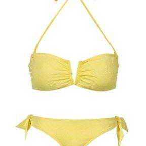 Maillot de bain bandeau jaune C&A