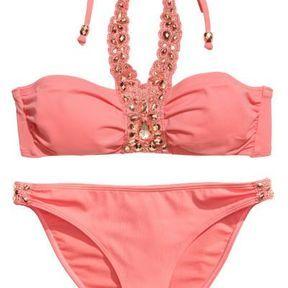 Maillot de bain rose pâle H&M