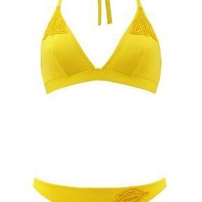 Maillot de bain triangle jaune Huit