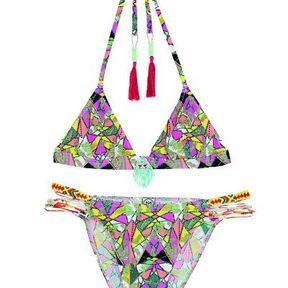 Maillot de bain triangle violet Urban Outfitters