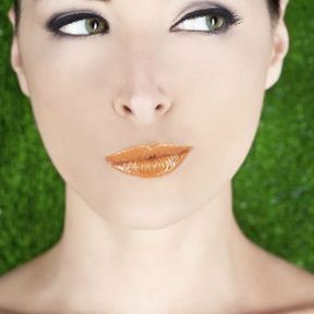 Maquillage des yeux verts