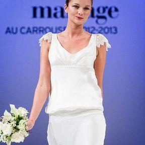 Robe de mariage 2013 en soie © Le Salon du mariage