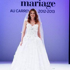 Robe de mariée 2013 en tulle © Le salon du mariage